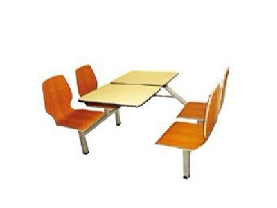 全钢四人餐桌椅